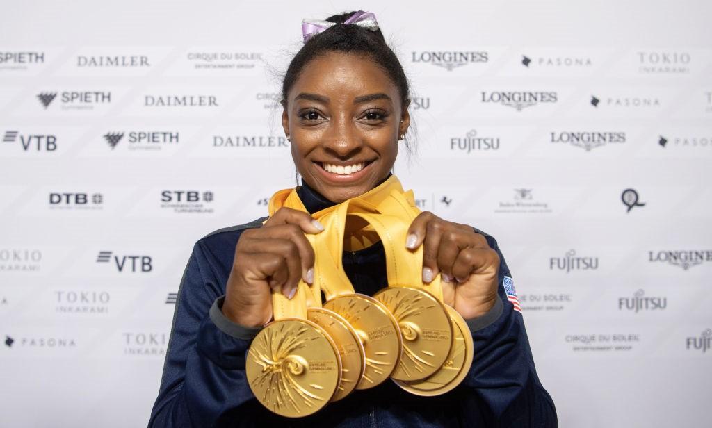 Simone Biles no Mundial de 2019 - Getty Images