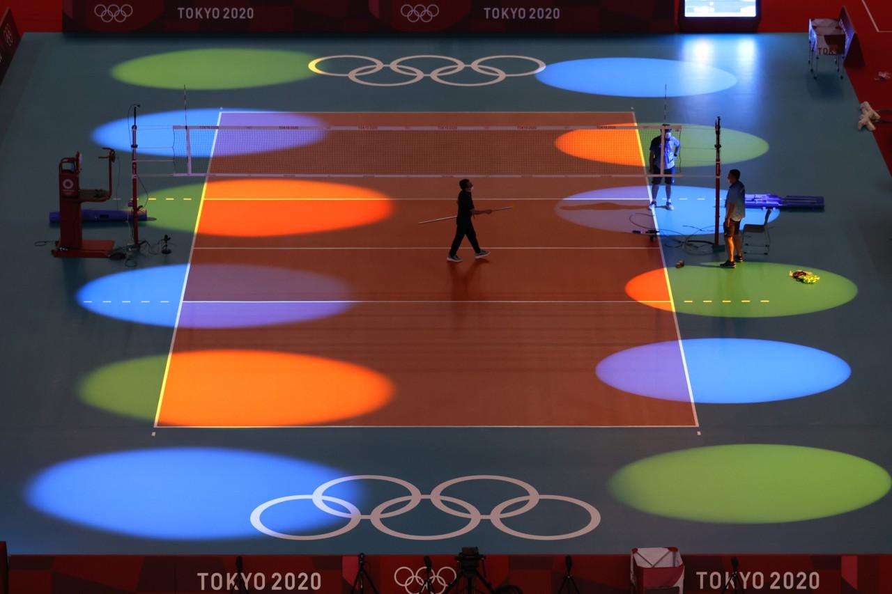 Ensaio para a estreia dos Jogos na Arena Ariake - Getty Images