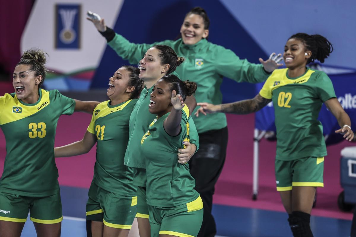 Seleção feminina conquistou o ouro no Pan de Lima - Divulgação/COB