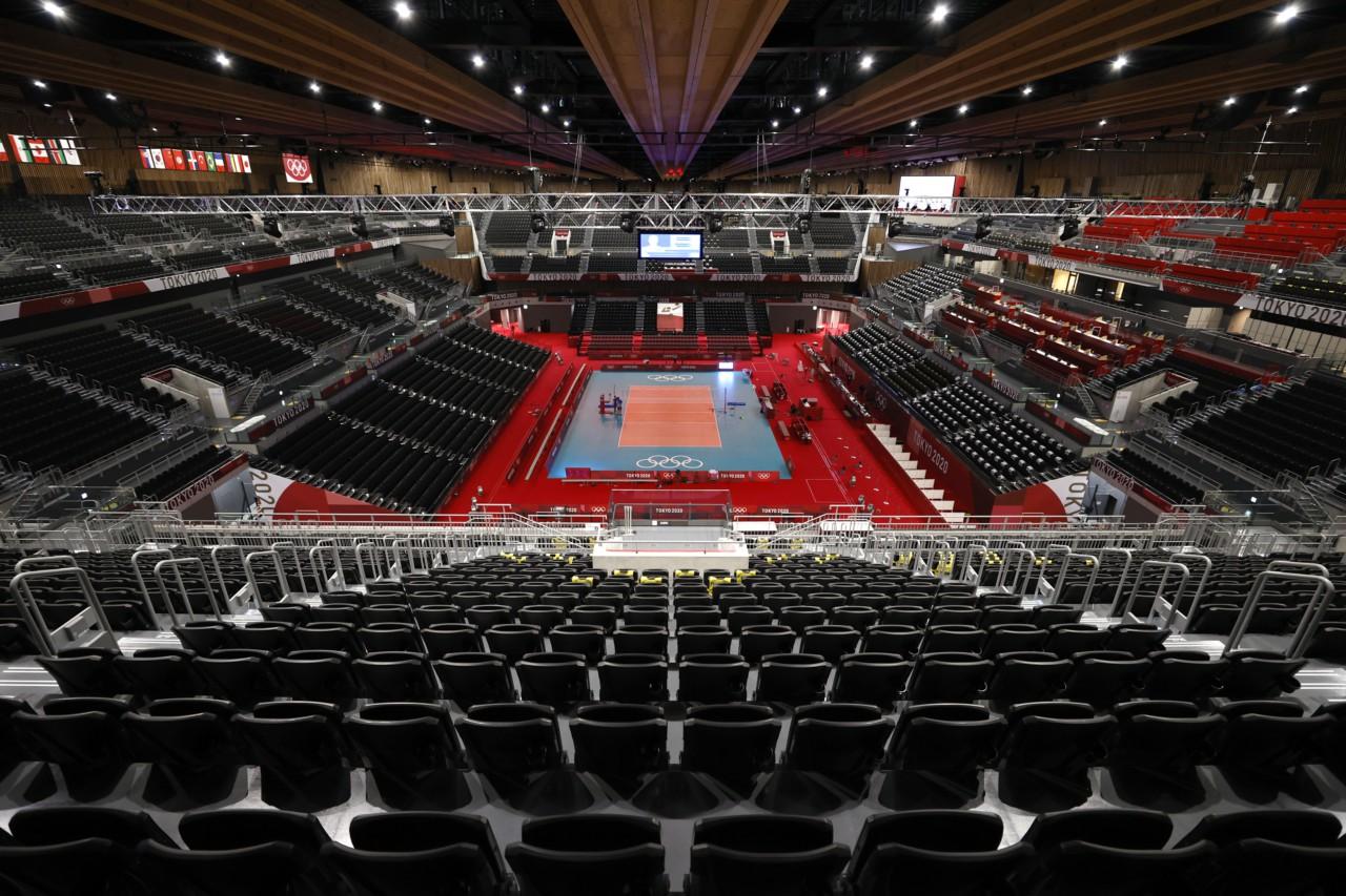 Arena Ariake, sede do vôlei em Tóquio - Getty Images
