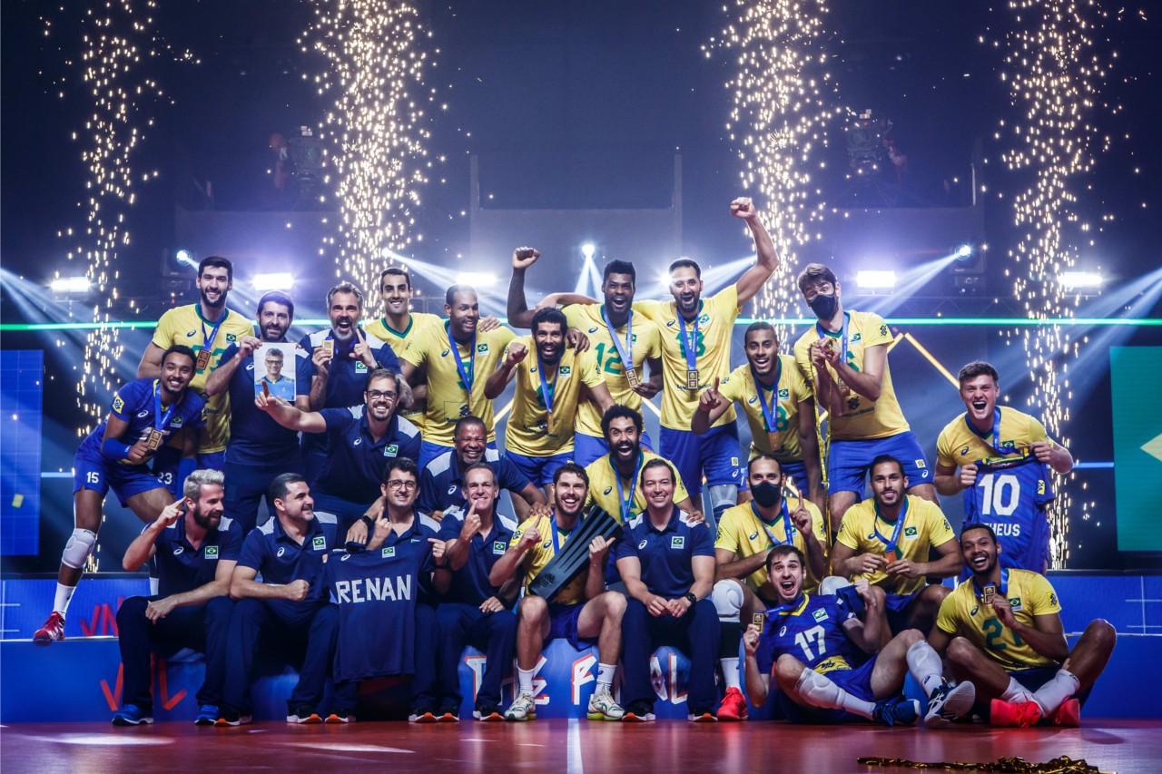 Brasil campeão da Liga das Nações de vôlei - Divulgação/FIVB
