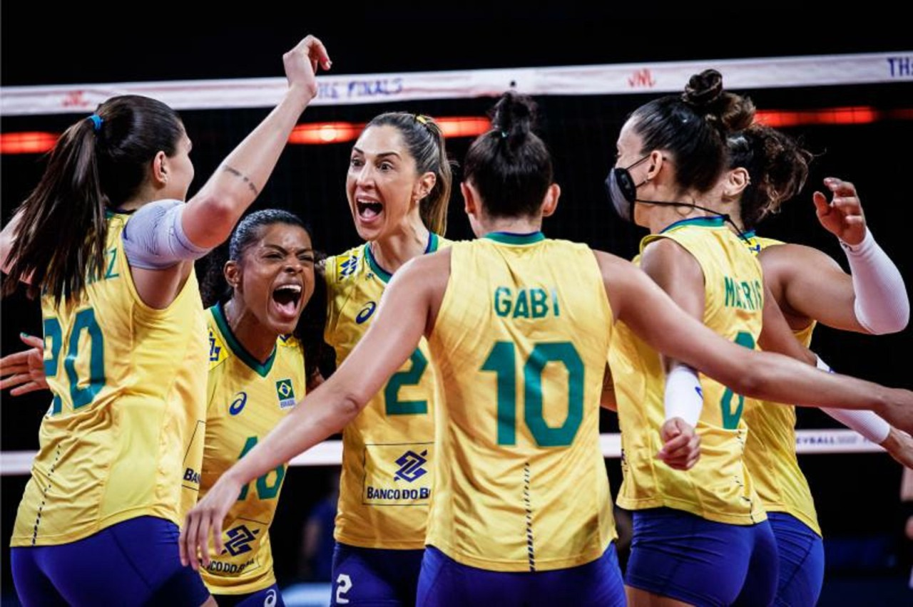 Seleção de vôlei feminina do Brasil - Divulgação/FIVB