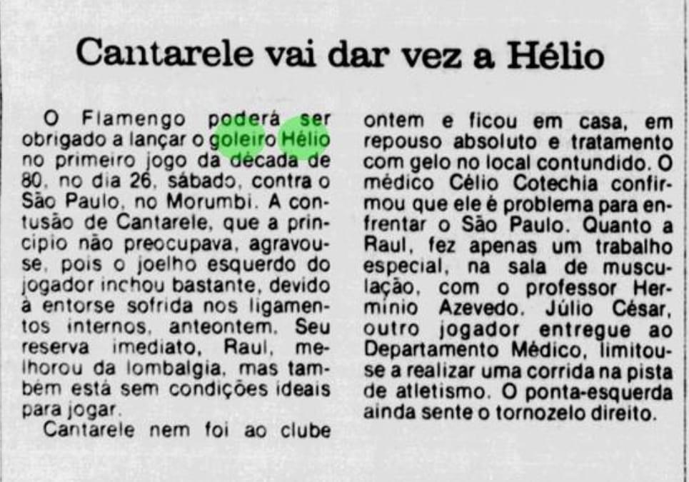 São raros os registros de Hélio dos Anjos como goleiro do Flamengo - Acervo/Jornal dos Sports
