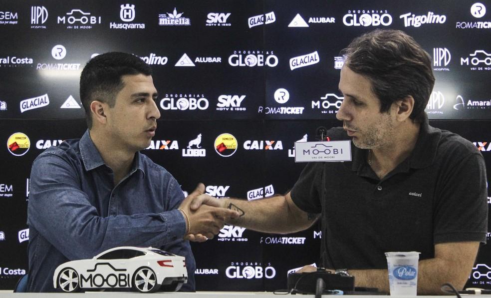 Felipe Albuquerque (E) e Ricardo Gluck Paul, ex-executivo e ex-presidente do Paysandu - Jorge Luiz/Paysandu