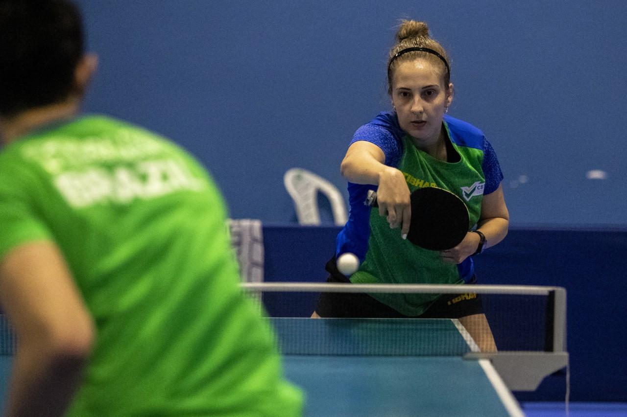 Danielle Rauen é uma das esperanças de medalha no tênis de mesa - Ale Cabral/CPB