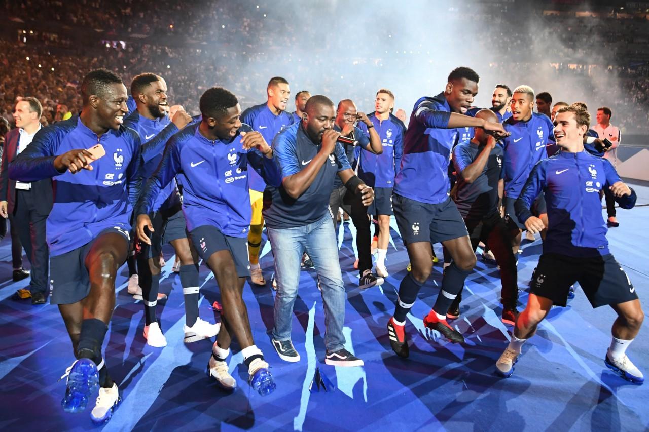Da França campeã do mundo em 2018, 19 dos 23 jogadores eram filhos de primeira geração de imigrantes - AFP