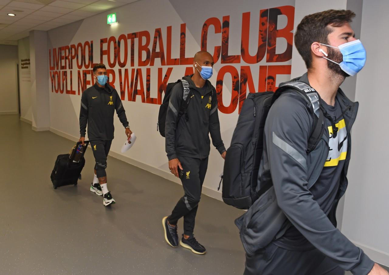 Roberto Firmino, Fabinho e Alisson não foram liberados pelo Liverpool - Getty Images