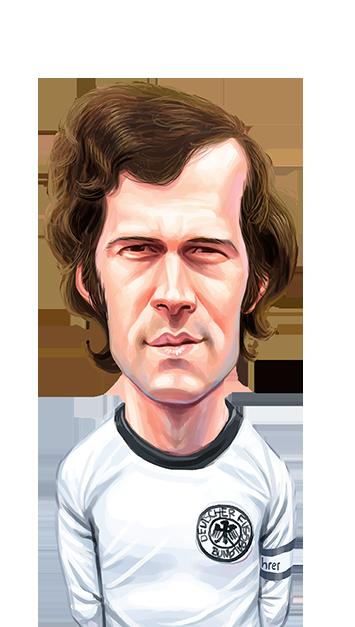 caricatura do jogador Beckenbauer
