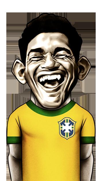 caricatura do jogador Garrincha