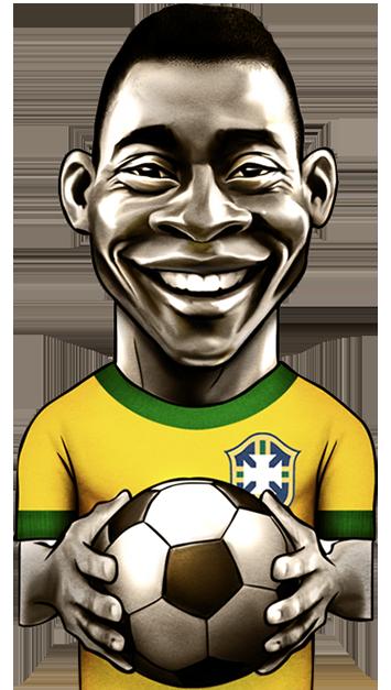 caricatura do jogador Pelé