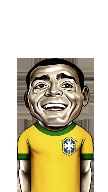 caricatura do jogador Romário