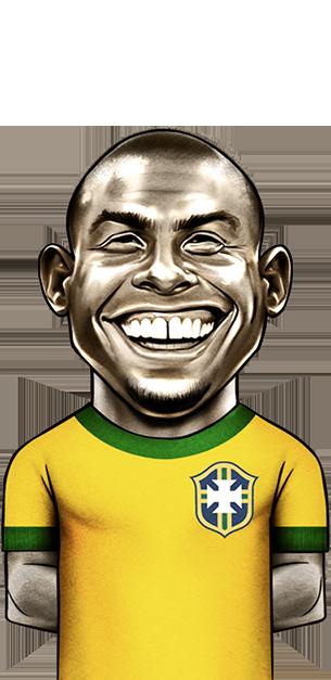 caricatura do jogador Ronaldinho
