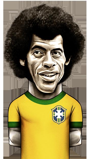 caricatura do jogador Carlos Alberto Torres