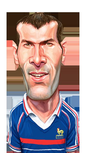 caricatura do jogador Zidane