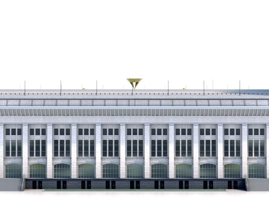 Fachada do antigo estádio Olímpico Lujniki