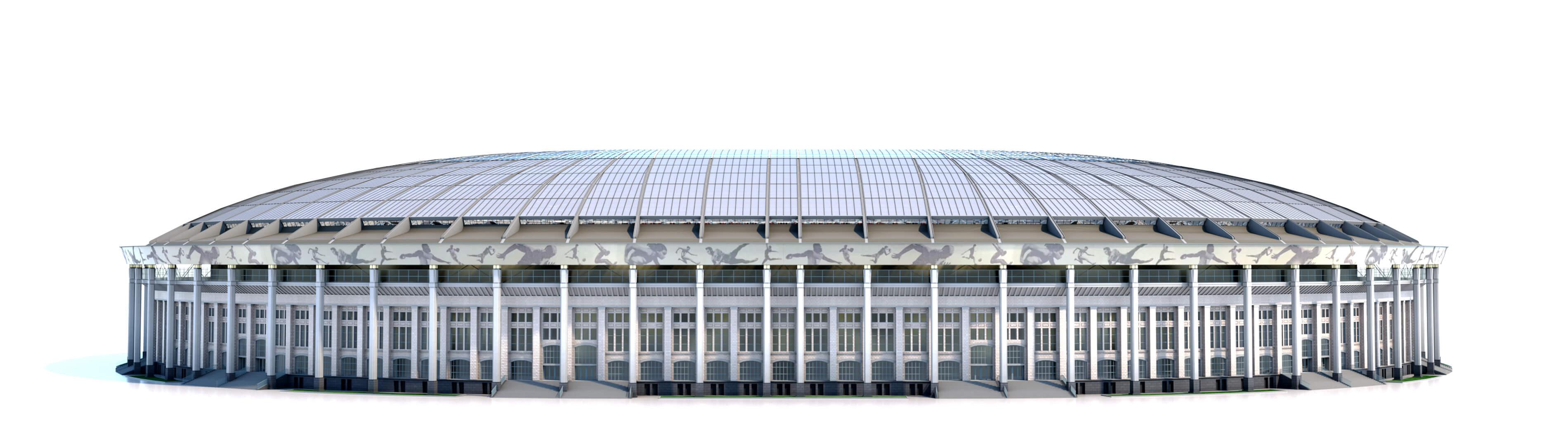 Fachada do novo estádio Olímpico Lujniki