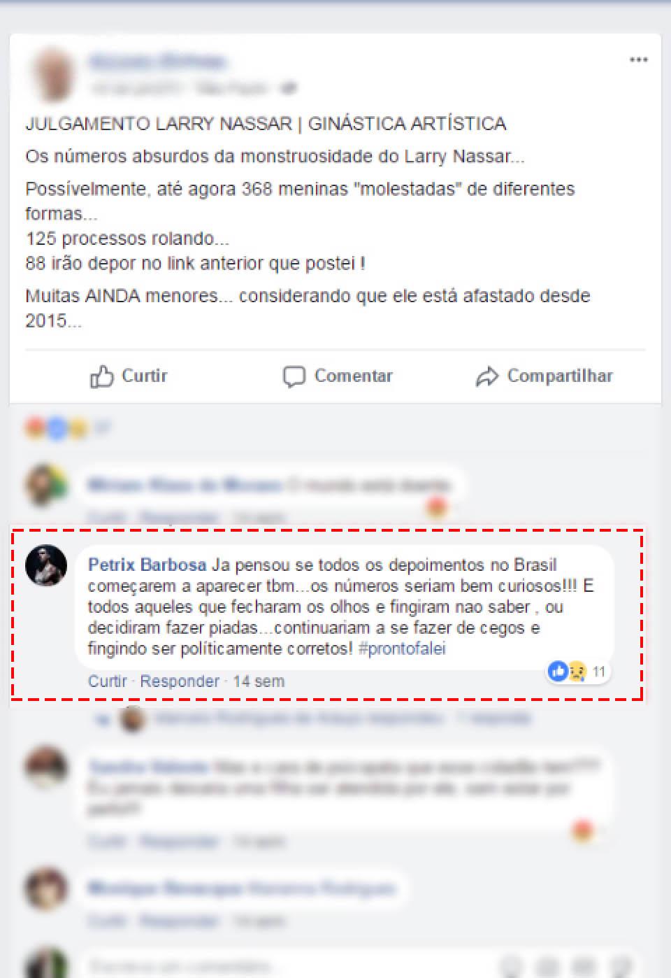 """a7beaff54 """"Já pensou se todos os depoimentos no Brasil começarem a aparecer? Os  números seriam bem curiosos!!! E todos aqueles que fecharam os olhos e  fingiram não ..."""