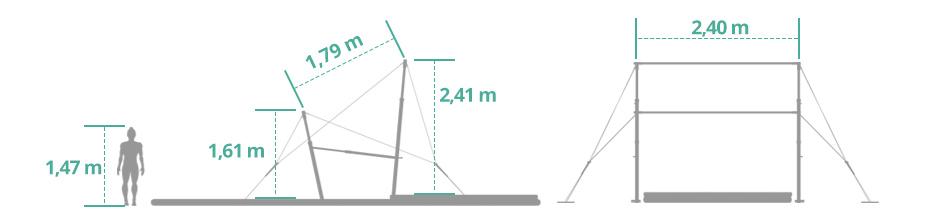 Gráfico Barras Assimétricas