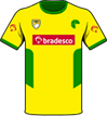 Camiseta de rúgbi de cor amarela