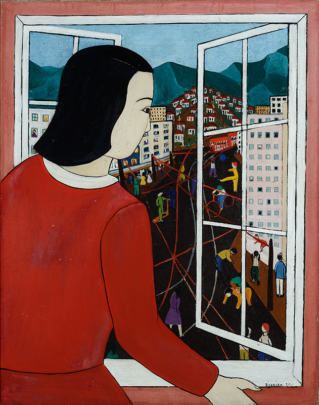 Mulher olhando na janela [Woman Looking Out the Window]