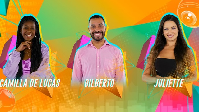 Camilla, Gilberto ou Juliette: quem será o último eliminado do programa antes da grande final?