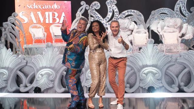 No programa de estreia, os sambas que vão embalar Mocidade Independente de Padre Miguel, São Clemente e Estação Primeira de Mangueira no Carnaval.