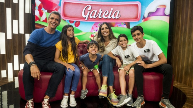 Marcio Garcia e sua família viram participantes