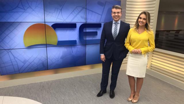 Os apresentadores Leal Mota Filho e Taís Lopes mostram as principais notícias das suas manhãs.