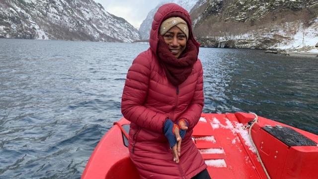 Glória Maria encara o frio do inverno da Noruega