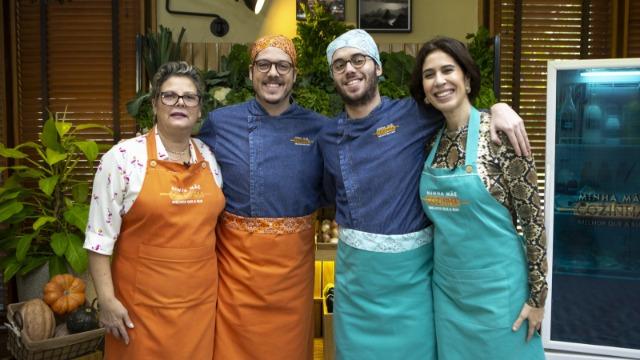 Fábio Porchat e Maria Clara Gueiros competem no 'Minha Mãe Cozinha Melhor que a Sua'