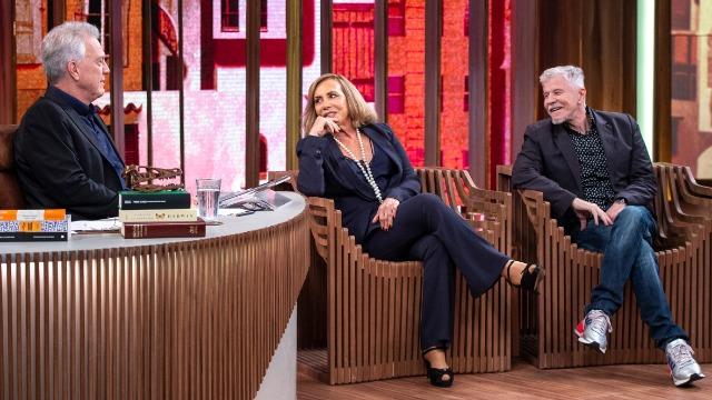 A dupla Arlete Salles e Miguel Falabella conversa sobre a série 'Eu, a Vó e a Boi'.