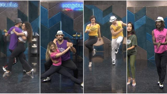 O Dança dos Famosos promete fortes emoções ao som do samba! Dandara Mariana, Jonathan Azevedo, Kaysar Dadour e Regiane Alves deram duro nos ensaios para fazer bonito no requebrado no palco do Domingão.