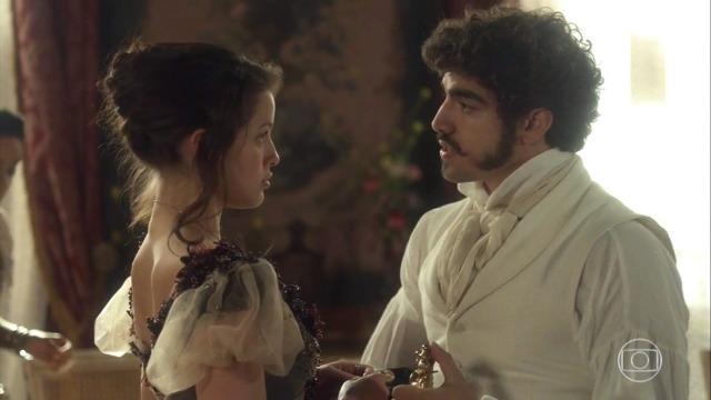 Domitila quer engravidar de Dom Pedro para acabar com Leopoldina