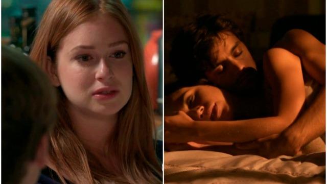 Eliza chora pensando em Jonatas enquanto ele tem primeira noite com Leila