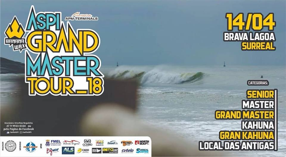 Cartaz oficial do ASPI Grand Master Tour 2018, em Itajaí (SC).