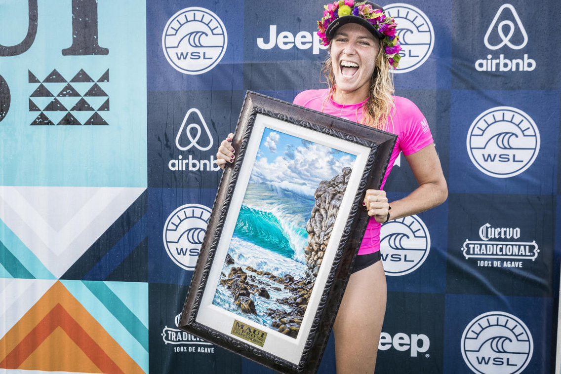 Stephanie Gilmore. Foto: WSL / Damien Poullenot.